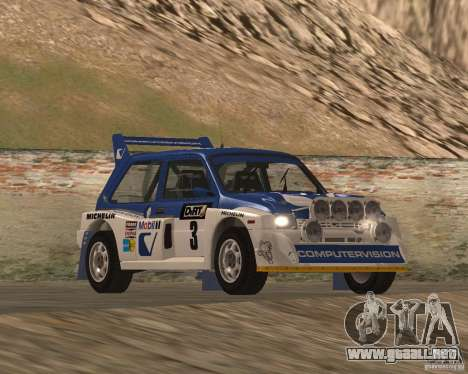 MG Metro 6M4 Group B para visión interna GTA San Andreas