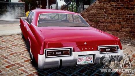 Dodge Monaco 1974 para GTA 4 Vista posterior izquierda