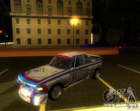 BMW CSL E9 para GTA San Andreas vista hacia atrás