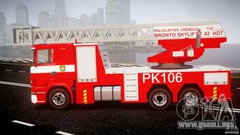 Scania R580 Fire ladder PK106 [ELS] para GTA 4 left