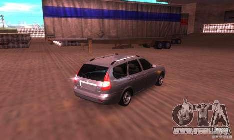 VAZ-2171 v2.0 para GTA San Andreas vista posterior izquierda