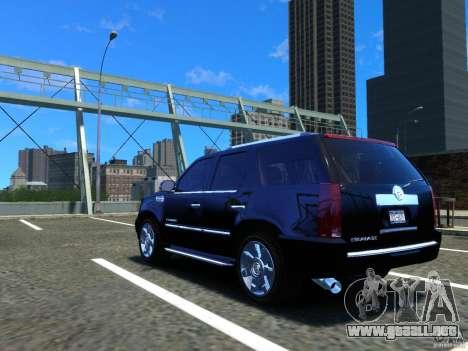 Cadillac Escalade v3 para GTA 4 Vista posterior izquierda