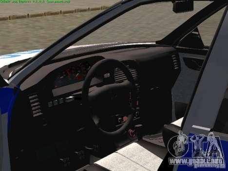 LADA 2170 policía para GTA San Andreas vista posterior izquierda
