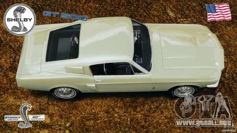 Shelby GT 500 para GTA 4 visión correcta