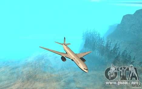 Boeing 777-300ER para GTA San Andreas left