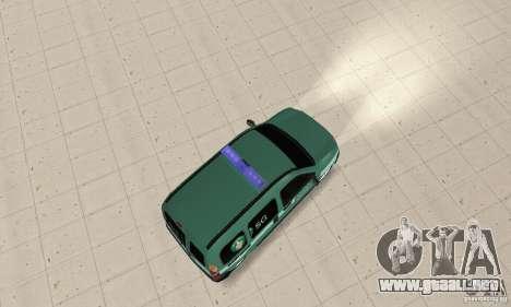 Renault Kangoo Straz Graniczna para GTA San Andreas vista posterior izquierda
