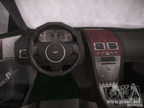 Aston Martn DB9 2008 para GTA San Andreas vista hacia atrás