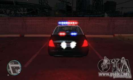 Ford Crown Victoria Police para GTA 4 left