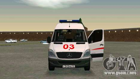 Mercedes-Benz Sprinter reanimación para GTA San Andreas left