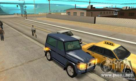 Mercedes-Benz G500 1999 Short [with kangoo v1] para visión interna GTA San Andreas