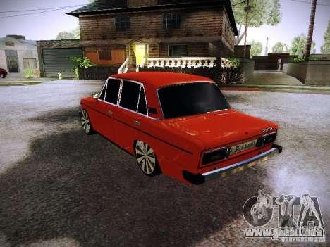 VAZ 2106 Fanta para GTA San Andreas vista posterior izquierda