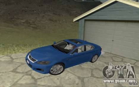 Lexus IS-F v2.0 para visión interna GTA San Andreas