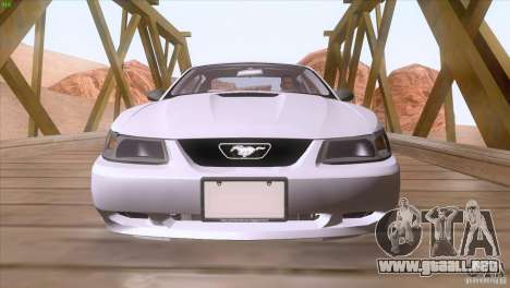 Ford Mustang GT 1999 para vista inferior GTA San Andreas