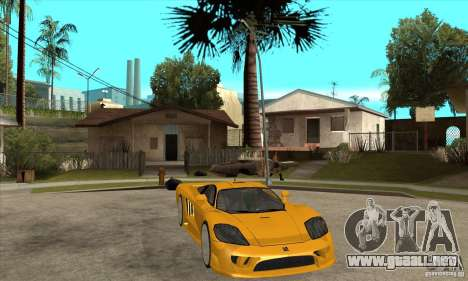 Saleen S7 Twin Turbo para GTA San Andreas vista hacia atrás