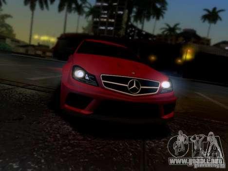 Mercedes Benz C63 AMG C204 Black Series V1.0 para la visión correcta GTA San Andreas