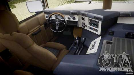Hummer H1 Original para GTA 4 vista hacia atrás