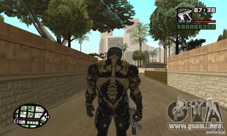 Crysis skin para GTA San Andreas quinta pantalla