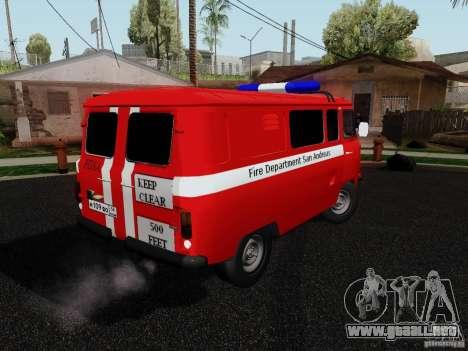 UAZ 3909 fuego para GTA San Andreas left