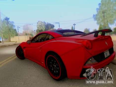 Ferrari California Hamann 2011 para vista lateral GTA San Andreas