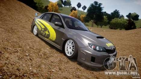 Subaru Impreza WRX STi 2011 Subaru World Rally para GTA 4