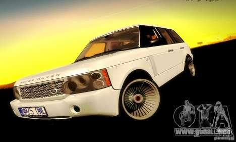 Range Rover Supercharged para GTA San Andreas vista posterior izquierda