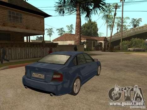 Subaru Legacy 3.0 R para la visión correcta GTA San Andreas
