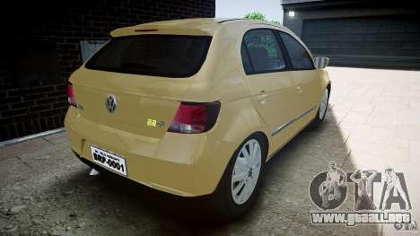 Volkswagen Gol 1.6 Power 2009 para GTA 4 Vista posterior izquierda