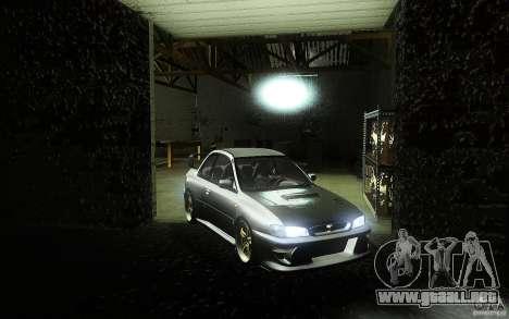 Subaru Impreza 22B para la visión correcta GTA San Andreas