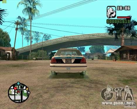 Ford Crown Victoria Baltmore County Police para la visión correcta GTA San Andreas