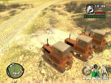 Tractor DT-75 cartero para la visión correcta GTA San Andreas