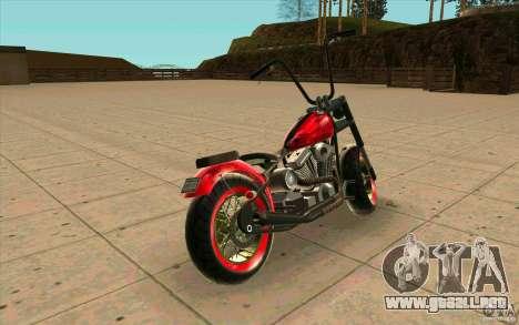 Zombie GTAIV para GTA San Andreas vista posterior izquierda