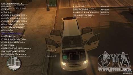 Ford Escape 2011 para GTA 4 Vista posterior izquierda