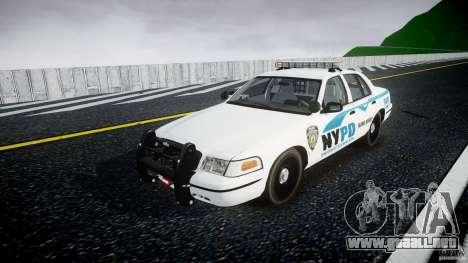Ford Crown Victoria v2 NYPD [ELS] para GTA 4