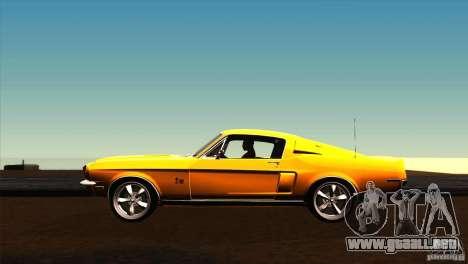 Shelby GT500KR para GTA San Andreas left