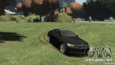 BMW M3 para GTA 4 Vista posterior izquierda