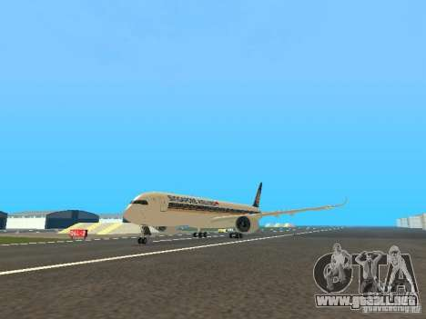 Airbus A350-900 Singapore Airlines para GTA San Andreas
