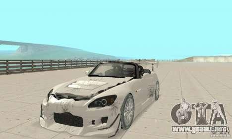 Honda S2000 Cabrio West Tuning para la vista superior GTA San Andreas