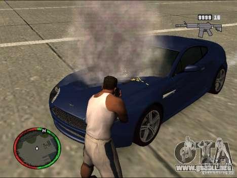 Auto extinguir un extintor de incendios para GTA San Andreas segunda pantalla