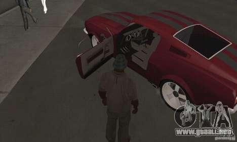 Ford Mustang 1968 para la visión correcta GTA San Andreas