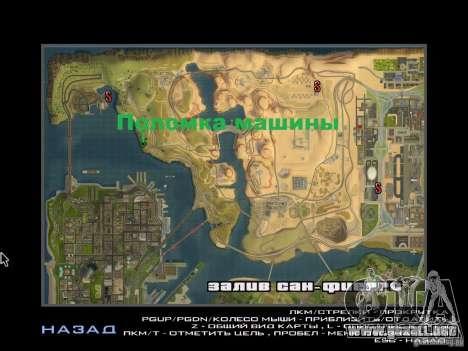 Viaje por carretera para GTA San Andreas sucesivamente de pantalla