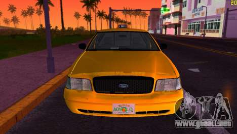 Ford Crown Victoria Taxi 2003 para GTA Vice City vista posterior