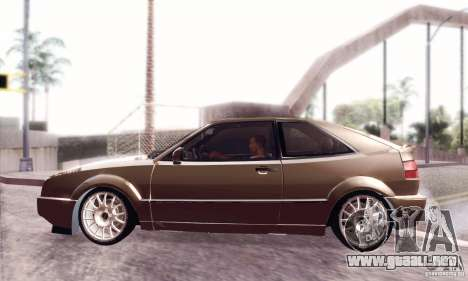 Volkswagen Corrado para GTA San Andreas vista posterior izquierda