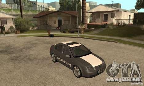 Volkswagen Bora VR6 2003 para GTA San Andreas vista hacia atrás