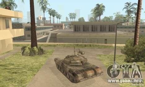 T-90A para GTA San Andreas vista posterior izquierda