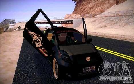 Toyota Yaris para la visión correcta GTA San Andreas