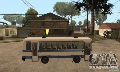 LAZ-A141 para GTA San Andreas vista hacia atrás