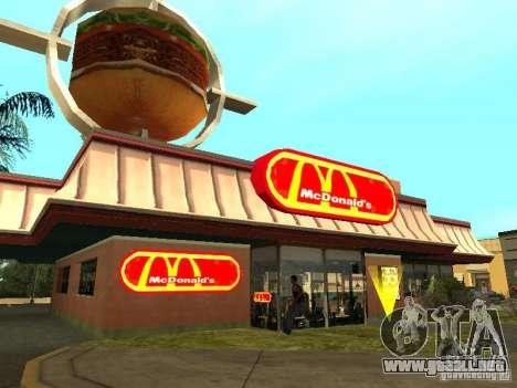 Mc Donalds para GTA San Andreas décimo de pantalla