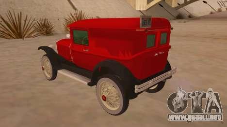 Pearce 1931 para GTA San Andreas vista posterior izquierda