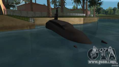 Vice City Submarine with face para GTA Vice City vista lateral izquierdo