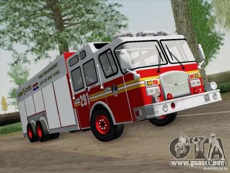 E-One F.D.N.Y Fire Rescue 1 para GTA San Andreas left